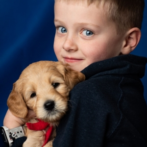 AVA RED RIBBON BOY BRODI WITH GRANDSON COLE 5 WEEKS OLD 1.14.19